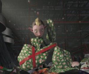 Puzzle Bryony, un elfe du bataillon de faire un emballage cadeau