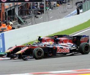 Puzzle Buemi Sébastien, Jaime Alguersuari - Toro Rosso - Spa-Francorchamps 2010