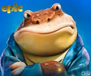 Puzzle Bufo, une grenouille qui est un homme d'affaires dans le monde secret