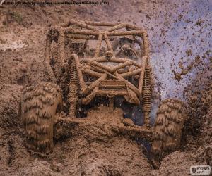 Puzzle Buggy 4x4 dans la boue