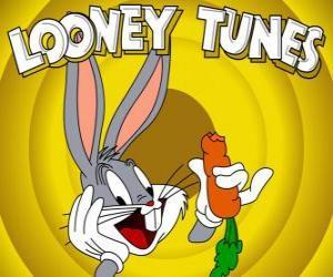 Puzzle Bugs Bunny, le héros lapin des aventures de Looney Tunes