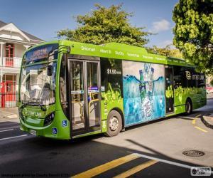 Puzzle Bus de Auckland, Nouvelle-Zélande