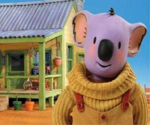 Puzzle Buster est l'un des frères koalas qui vivent des aventures amusantes dans le désert australien, Frères Koala