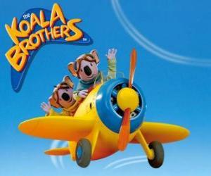 Puzzle Buster et Frank piloter un avion