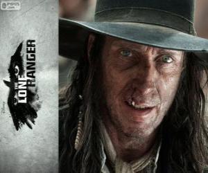 Puzzle Butch Cavendish (William Fitchner) dans le film Lone Ranger
