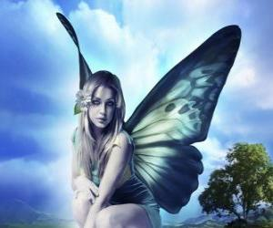 Puzzle Butterfly Fairy