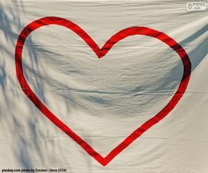 Puzzle Cœur peint