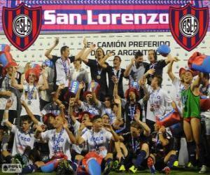 Puzzle CA San Lorenzo de Almagro, champion du Torneo Inicial 2013, Argentine