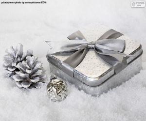 Puzzle Cadeau de Noël sur la neige