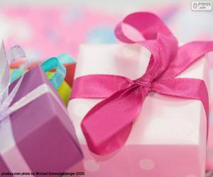 Puzzle Cadeau de rose ruban
