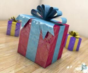 Puzzle Cadeaux de Noël décoré avec des rubans