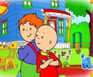 Puzzle Caillou avec son ami Léo