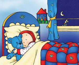 Puzzle Caillou dormir