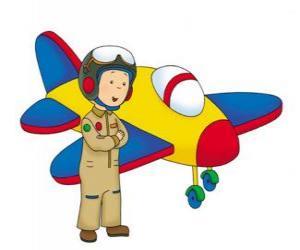 Puzzle Caillou, l'aviateur
