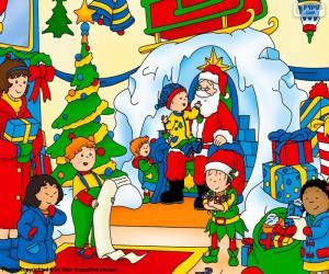 Puzzle Caillou Noël