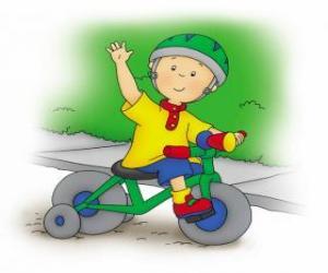 Puzzle Caillou, une bicyclette