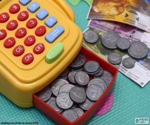 Puzzle Caisse enregistreuse jouet