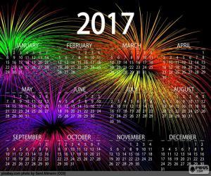 Puzzle Calendrier 2017, bonne année