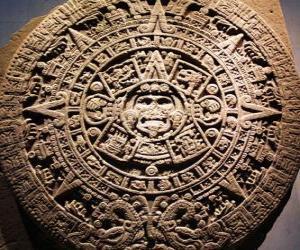 Puzzle Calendrier aztèque mystiques