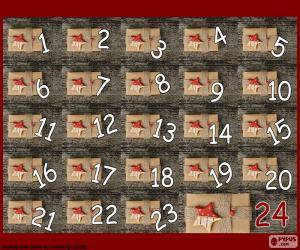 Puzzle Calendrier de l'Avent de cadeaux