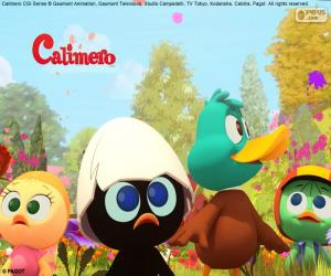 Puzzle Caliméro avec des amis
