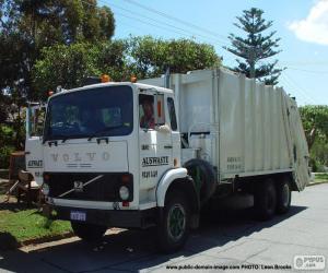 Puzzle Camion à ordures blanche