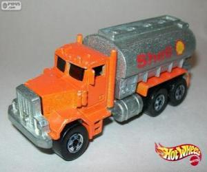 Puzzle Camion citerne, Hot Wheels