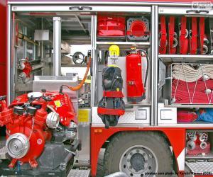 Puzzle Camion de pompier de l'équipe