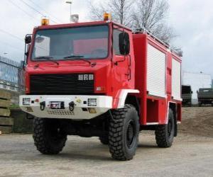 Puzzle camion de pompier tout-terrain