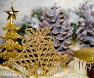Puzzle Campagnes de Noël d'or