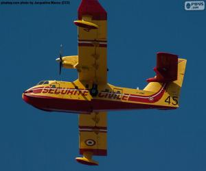 Puzzle Canadair CL-215, hydravion