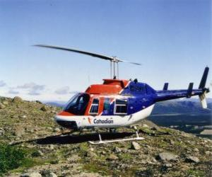 Puzzle Canadian hélicoptère Bell 206