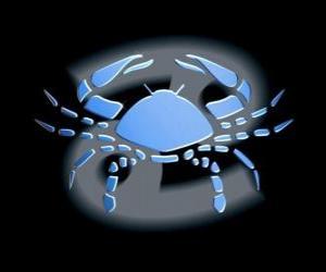 Puzzle Cancer. Le Crabe. Quatrième signe du zodiaque. Le nom latin est le Cancer