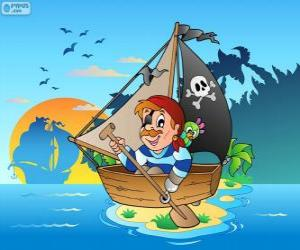 Puzzle Canot pirate