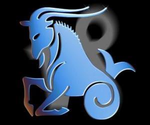 Puzzle Capricorne. La chèvre-poisson. Dixième signe du zodiaque. Le nom latin est Capricornus