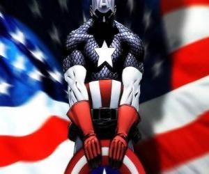 Puzzle Captain America est un super-héros patriotique et un expert en combat rapproché