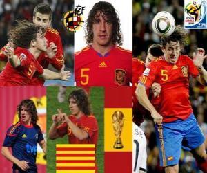 Puzzle Carles Puyol (La tête de l'Espagne) défense de l'équipe nationale Espagnol