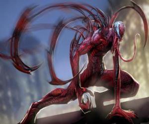 Puzzle Carnage est un super-vilain symbiotique, adversaire de Spider-Man et grand ennemi de Venom