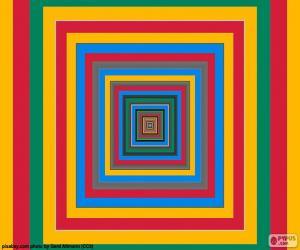 Puzzle Carrés concentriques