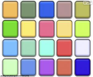 Puzzle Carrés de couleurs