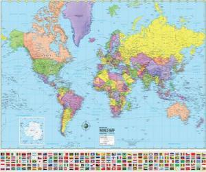 Puzzle Carte des frontières des pays du monde