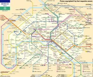 Puzzle Carte du Métro de Paris