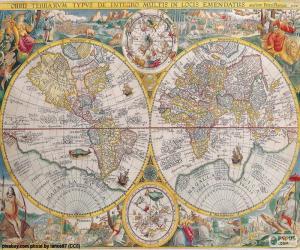Puzzle Carte historique du monde