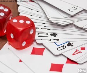 Puzzle Cartes et dés
