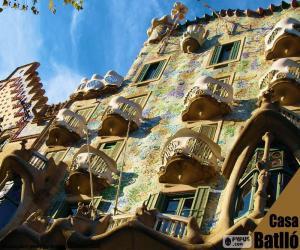 Puzzle Casa Batllo, Barcelone