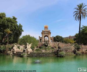 Puzzle Cascade de la Parc de la Ciutadella, Barcelone