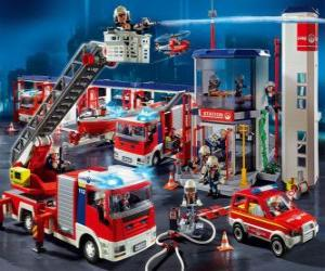 Puzzle Caserne de pompiers