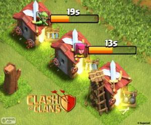 Puzzle Caserne des Clash of Clans