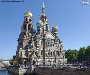 Puzzle Cathédrale Saint-Sauveur-sur-le-Sang-Versé, Russie