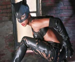 Puzzle Catwoman, une voleuse de bijoux et rival de Batman pour lequel il éprouve une forte attirance romantique
